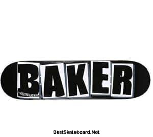 Baker Brand Logo Deck-8.0 BlackWhite